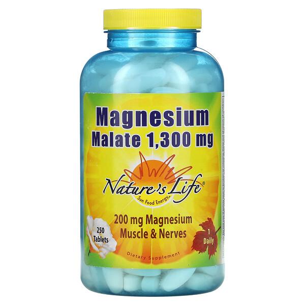 Magnesium Malate, 1,300 mg, 250 Tablets
