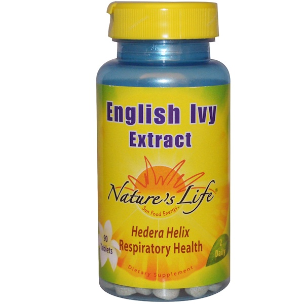 Nature's Life, English Ivy Extract, 90 Tablets (Discontinued Item)