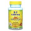 Nature's Life, K-2, Bone Health Menatetrenone, 5,000 mcg, 60 Tablets
