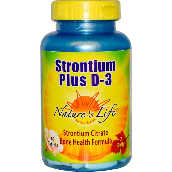 Nature's Life, Strontium Plus D-3, 60 Tablets