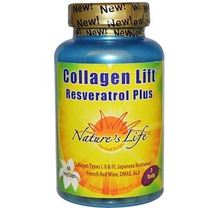 Натурес Лифе, Collagen Lift, Resveratrol Plus, 60 Veggie Caps отзывы