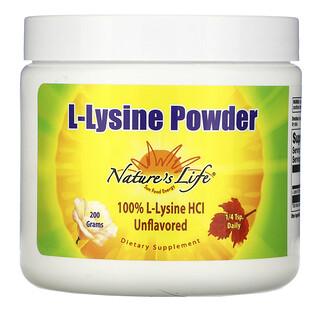 Nature's Life, L-Lysine Powder, Unflavored, 200 g