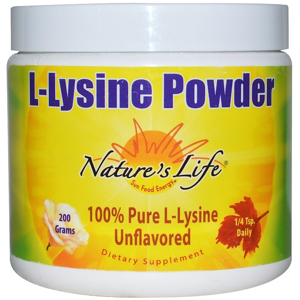 L-Lysine Powder, Unflavored, 200 g