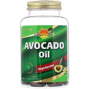 Натурес Лифе, Avocado Oil, 60 Vegetarian Softgels отзывы