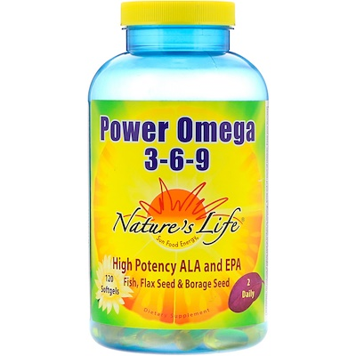 Nature's Life Power Omega 3-6-9, 120 Softgels
