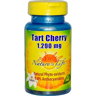 Nature's Life, Cereza Agria, 1,200 mg, 30 Tabletas