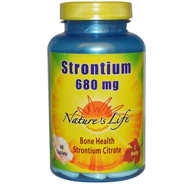 Nature's Life, Strontium, 680 mg, 60 Tablets