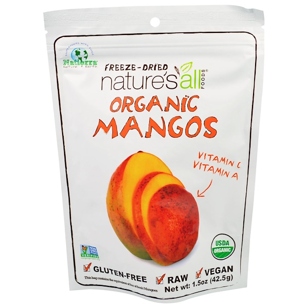 Natierra Nature's All , Organic Freeze-Dried, Mango, 1.5 oz (42.5 g)