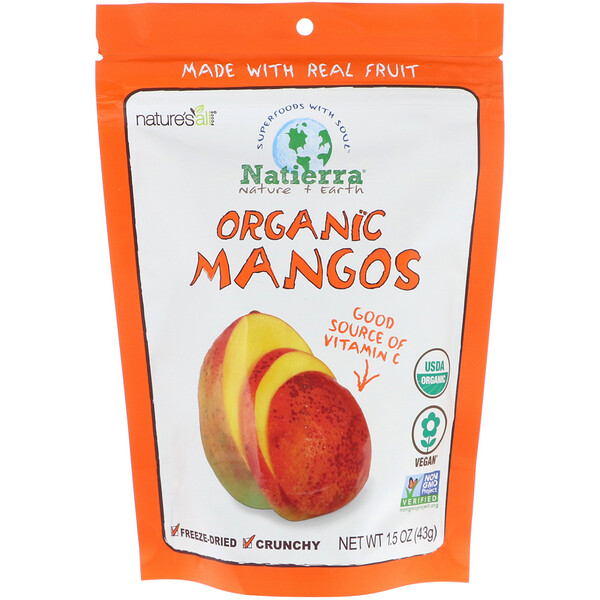 Organic Freeze-Dried, Mango, 1.5 oz (42.5 g)