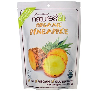 Natierra Nature's All , Organic Pineapple, 1.5 oz (42.5 g)