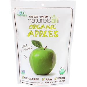 Натиерра Натурес Ол, Organic Freeze-Dried, Apples, 1.5 oz (42.5 g) отзывы
