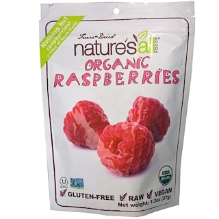 Natierra Nature's All , Freeze-Dried Organic Raspberries, 1.3 oz (37 g)