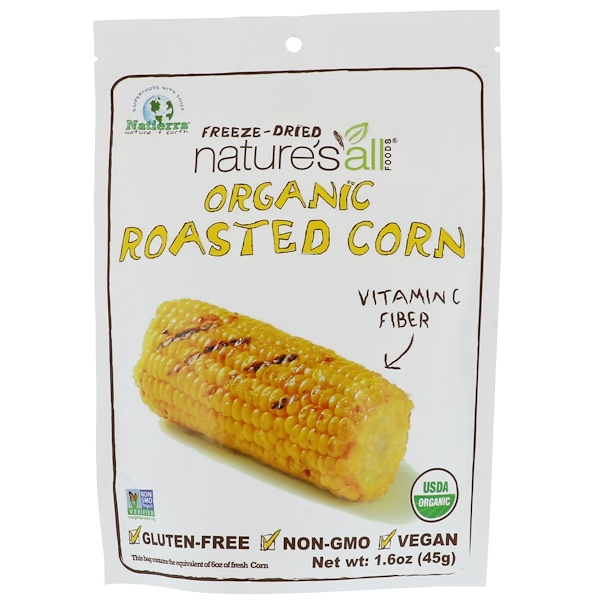 Natierra Nature's All , Organic Freeze-Dried, Roasted Corn, 1、6 oz (45 g)