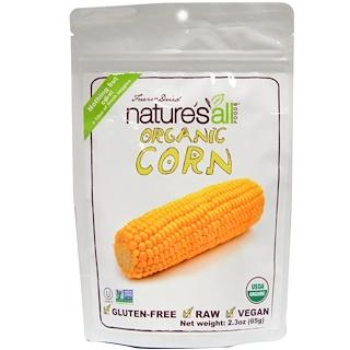 Natierra Nature's All , フーズ®, フリーズドライ・オーガニックコーン, 2.3 オンス (65 g)