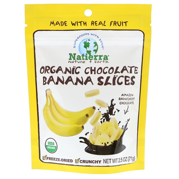 Natierra, Organic Freeze-Dried, Chocolate Banana Slices, 2.5 oz (71 g) (Discontinued Item)