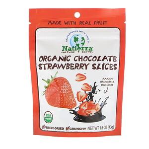 Натиерра Натурес Ол, Organic Freeze-Dried, Chocolate Strawberry Slices, 1.5 oz (43 g) отзывы покупателей