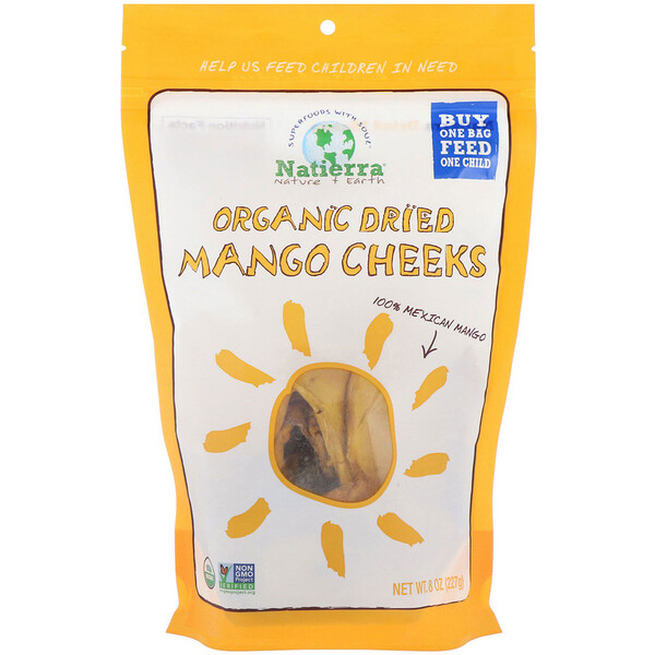 Natierra, Organic Dried, Mango Cheeks, 8 oz (227 g) (Discontinued Item)