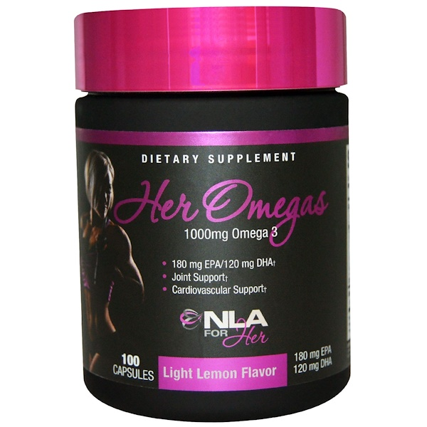 NLA for Her, Her Omegas, Light Lemon Flavor, 1000 mg, 100 Capsules (Discontinued Item)