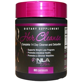 NLA for Her, Her Cleanse, Complete 14 Day Cleanse and Detoxifier, 60 Capsules