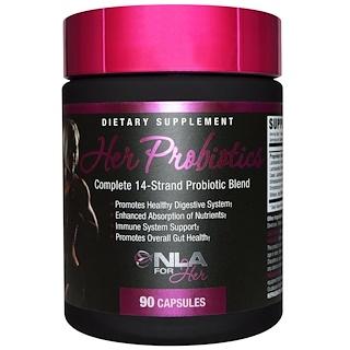 NLA for Her, 女用益生菌,完整的14鏈益生菌混合,90粒膠囊