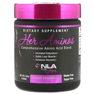 NLA for Her, Her Aminos, Comprehensive Amino Acid Blend, Orange Creamsicle, 0.56 lb (254 g)