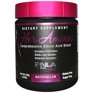 NLA for Her, Her Aminos, Comprehensive Amino Acid Blend, Watermelon, 0.57 lbs (258 g)