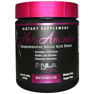 НЛА фо Хё, Her Aminos, Comprehensive Amino Acid Blend, Watermelon, 0.57 lbs (258 g) отзывы