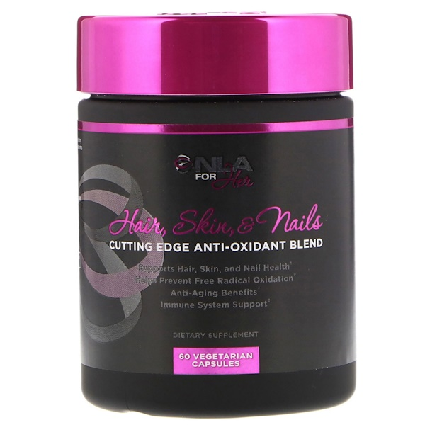 NLA for Her, Hair, Skin, & Nails, Cutting Edge Anti-Oxidant Blend, 60 Vegetarian Capsules