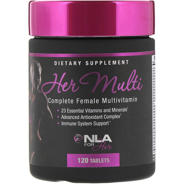 NLA for Her, Her Multi, Complete Female Multivitamin, 120 Tablets (Discontinued Item)