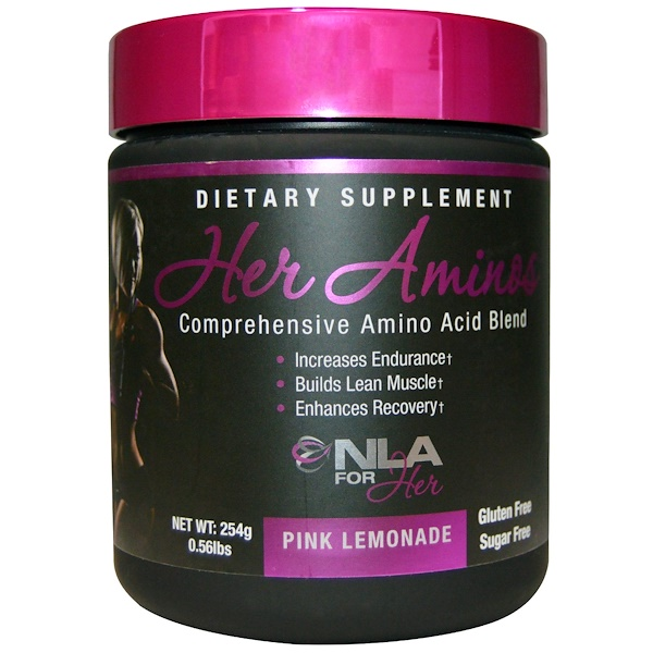 NLA for Her, Her Aminos, Comprehensive Amino Acid Blend, Pink Lemonade, 0.56 lbs (254 g) (Discontinued Item)