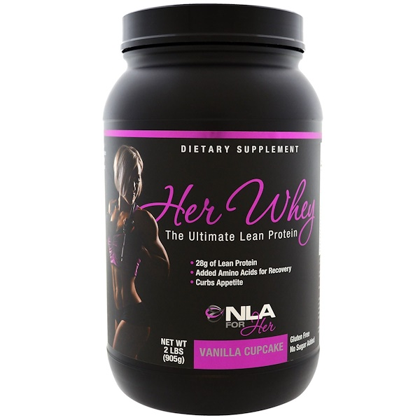 NLA for Her, Her Whey, Ultimate Lean Protein, Vanilla Cupcake, 2 lbs (905 g) (Discontinued Item)