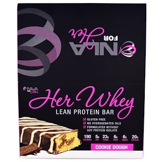 NLA for Her, Her Whey, Lean Protein Bar, Cookie Dough, 12 Bars, 2 oz (57 g) Each