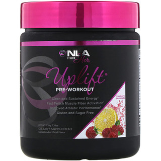 NLA for Her, Uplift, Pre Workout, Raspberry Lemonade, 7.76 oz (220 g)