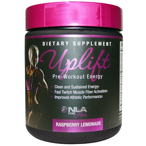 NLA for Her, Uplift, Pre Workout Energy, Raspberry Lemonade, 0.46 lbs (210 g)
