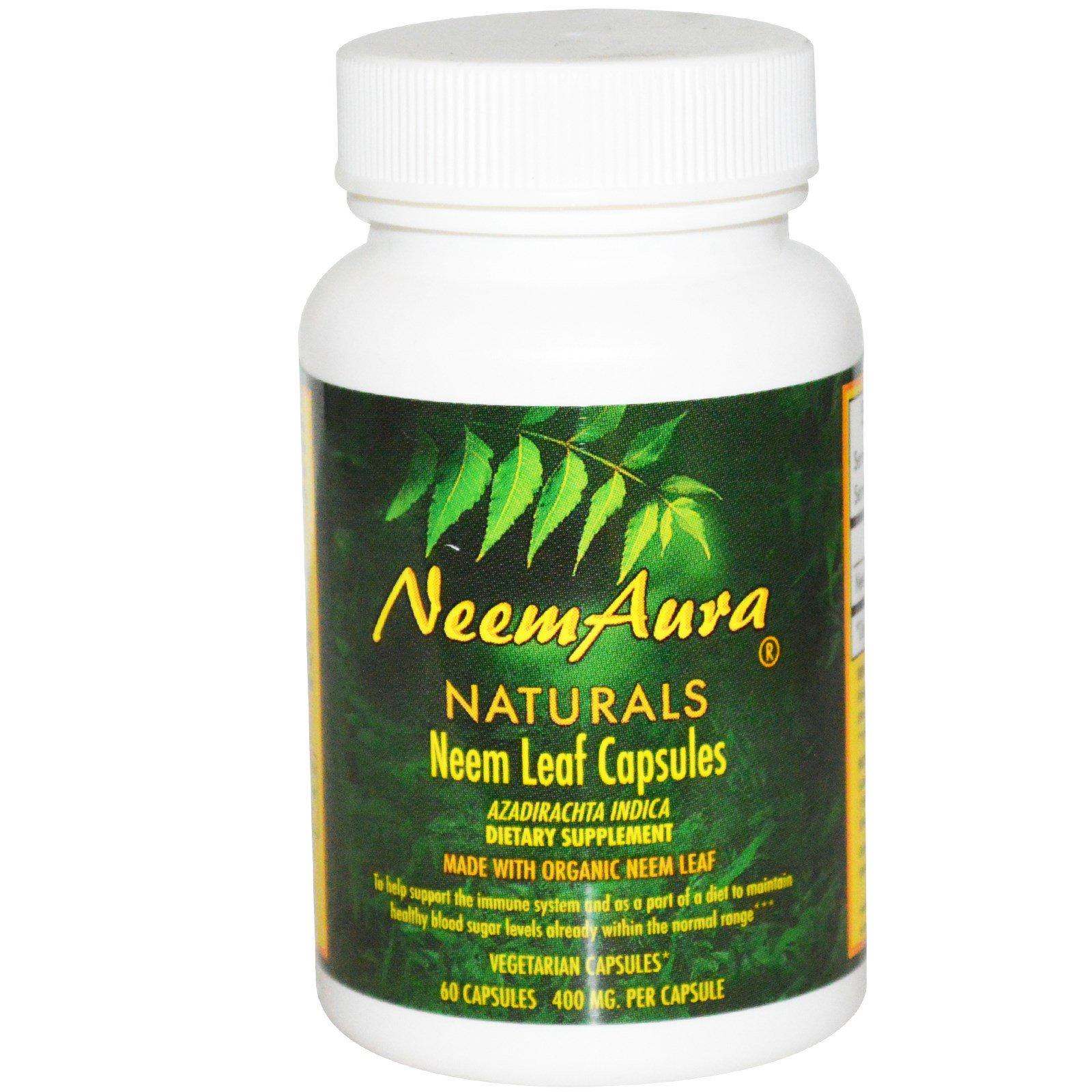 Neemaura Naturals Inc, Листья нимы в капсулах, 400 мг, 60 капсул