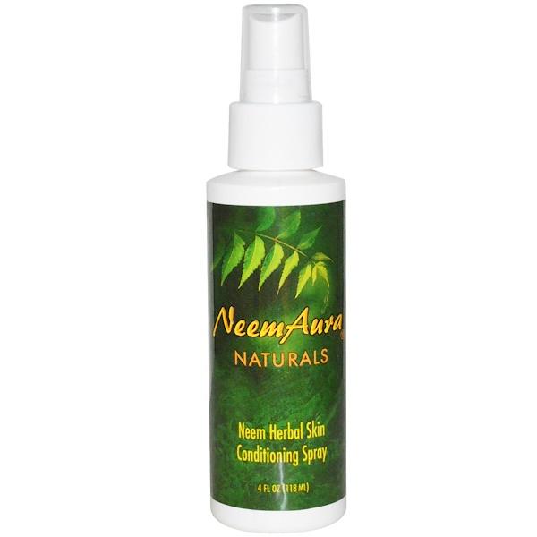 Neemaura Naturals Inc, Neem Herbal Skin Conditioning Spray, 4 fl oz (118 ml) (Discontinued Item)