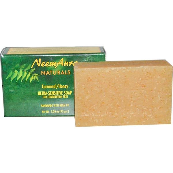 NeemAura, Ultra-Sensitive Soap, Cornmeal/Honey, 3.30 oz (93 g) (Discontinued Item)