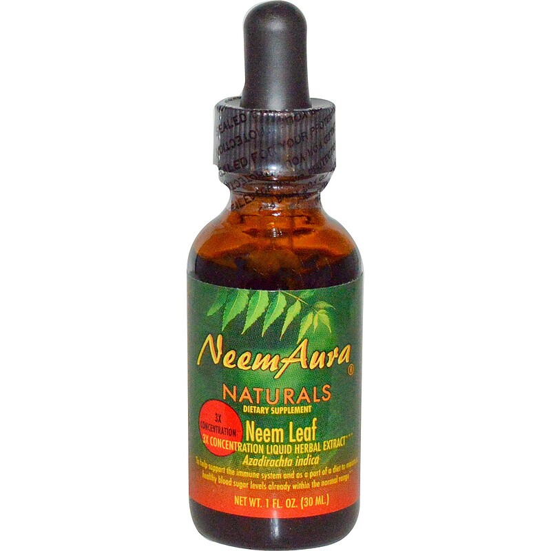 Neem Leaf, 3X Concentration, Extract, 1 fl oz (30 ml)