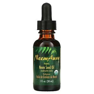 NeemAura, زيت بذور النيم، منتج عضوي، أونصة سائلة (30 مل)