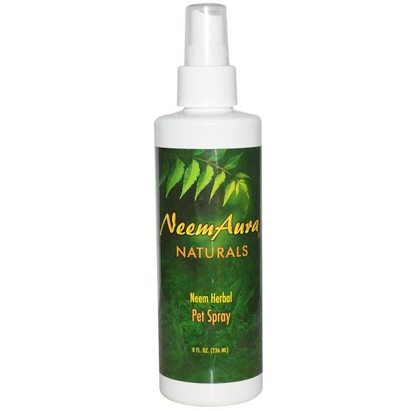 Neemaura Naturals Inc, Neem Herbal Pet Spray, 8 fl oz (236 ml) (Discontinued Item)