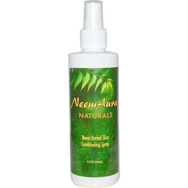 Neemaura Naturals Inc, Neem Herbal Skin Conditioning Spray, 8 fl oz (236 ml) (Discontinued Item)