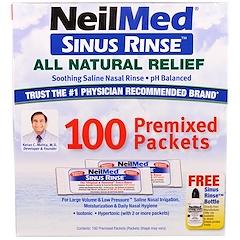 NeilMed, Sinus Rinçage, Soulagement naturel, 100 sachets pré mélangés