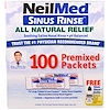 NeilMed, 鼻沖洗,全自然緩解配方,100個預混包