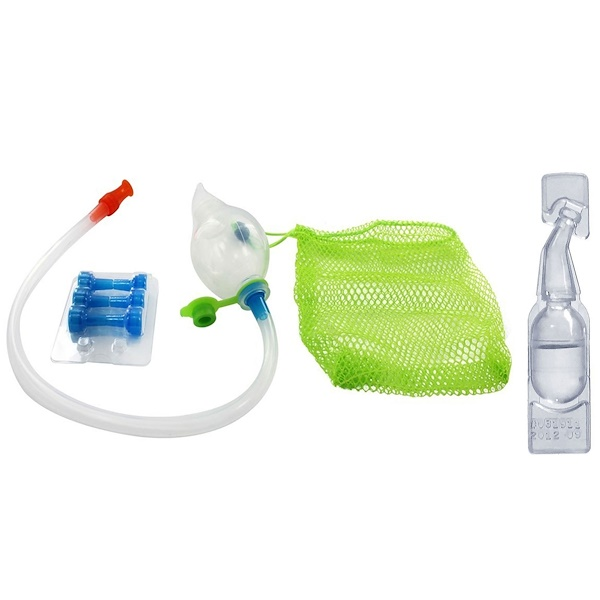 NeilMed, Naspira Plus, Nasal-Oral Aspirator & Saline Vials, Babies, 1 Kit (Discontinued Item)