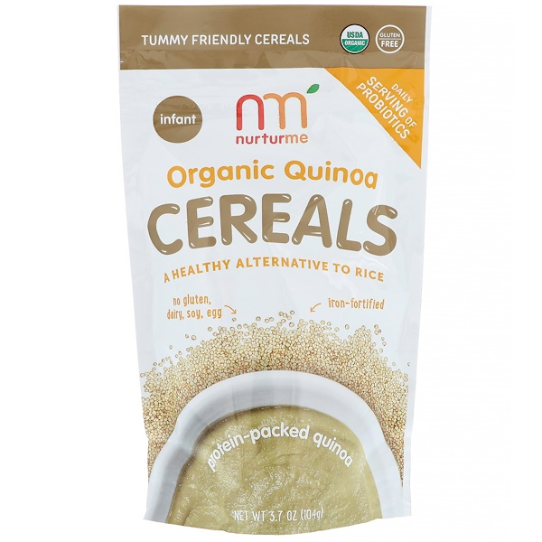 NurturMe, Organic Quinoa Cereals, Protein-Packed Quinoa, Infant , 3.7 oz (104 g) (Discontinued Item)