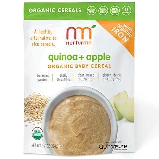 NurturMe, Organic Baby Cereal, Quinoa + Apple, 3.7 oz (104 g)