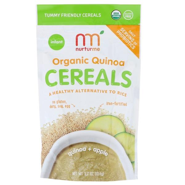 NurturMe, Organic Quinoa Cereal, Quinoa + Apple, Infant, 3.7 oz (104 g) (Discontinued Item)