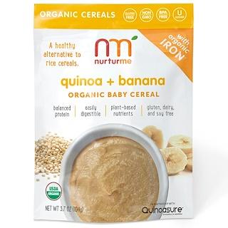 NurturMe, Organic Baby Cereal, Quinoa + Banana, 3.7 oz (104 g)