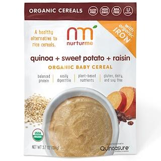 NurturMe, Organic Baby Cereal, Quinoa + Sweet Potato + Raisin, 3.7 oz (104 g)