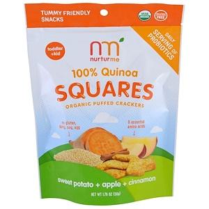 НутурМе, 100% Quinoa Squares, Toddler + Kid, Sweet Potato + Apple + Cinnamon, 1.76 oz (50 g) отзывы